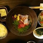 乱麻 - にゅうめん定食1200円のセット物