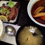 定食屋ジンベイ - 厚切り牛タン&ビーフシチュー