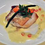 カーブドッチ - コース料理(平目のポワレ サフランとトマトのクリームソース)(2014年7月)