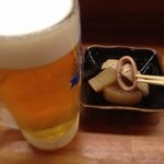 とんかつ 安右衛門 - 生ビールとお通し