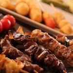 とりひめ - 串焼きは全部で30種以上の品揃え