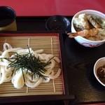 博多うどん小麦屋 - 天丼セット(小)