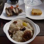 サリモス - 訪れた日は、シイタケと栗の炊込みご飯でした。