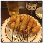 鉄板あさひ - 串カツにビールさいこー(^^)