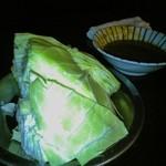 焼鳥どん - キャベツ味噌(2014/7/16)