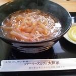 ファーマーズカフェ大芦家 - けんちんそば(2013.04.06)