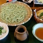 林屋 - 「しそ切蕎麦と野菜の天盛」(1,230円)