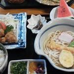林屋 - 「天ぷらうどん定食」(1,380円)