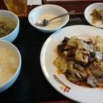 桂園 香港酒家 - 特製ホイコーロ定食¥650