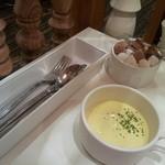 Butter - 冷たい濃厚なコーンスープ。