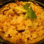 百々亭 - そば米五目ご飯