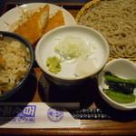 百々亭 - 昼そば定食