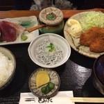 とみた - お刺身とすずきのフライ定食