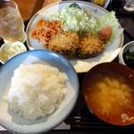 ごはん屋さん - メンチカツ定食 750円