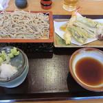 信州名物 本手打ちそば 更科 - 数量限定 縄文天ぷらセット ¥1,530