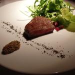 29095935 - 米沢牛ロース肉のローストと自家製ハーブマスタード