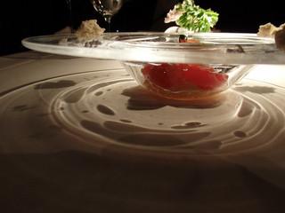 ラ・ソラシド フードリレーションレストラン - カッペリーニの器です。涼しげ♪