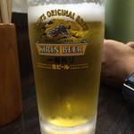 餃子屋麺壱番館 - 蒸し暑い日には、きーんと冷えたビール♡