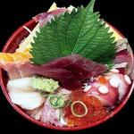 おさかな食房わはな座 - 海鮮やまもり丼