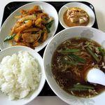 蘭州苑 - 料理写真:定食[じゃがいもと肉のピリ辛炒め](2014/07/17撮影)