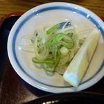 そば処砂場 - 鴨せいろ(1,350円)~薬味