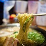 豚のさんぽ - 豚のさんぽ ラーメンの麺