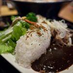 豚のさんぽ - 豚のさんぽ 贅沢岳定食のミニダムカレー