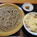 玄びし - ざる蕎麦親子丼セット(1100円)2014年7月