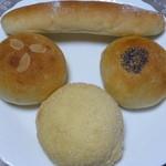 COBO pan - 2014.07 買ってきたベジクリームパン@150、粒あんパン@150、メロンパン@150、チョコスティック@150