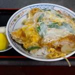 信濃そば - カツ丼750円