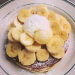 ブルックリンパンケーキハウス - バナナとホイップのパンケーキ