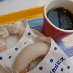ミスタードーナツ - 「カルピス」ポン・デ・リング、「カルピス」ワッフ、ホットコーヒー