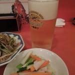 天津飯店 - まずはビールで乾杯! H26.7