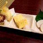 富士見庵 - 和の三種盛り(税込700円)