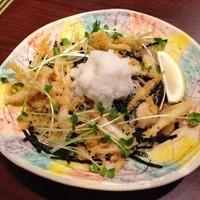 富士見庵 - 白海老の天おろし蕎麦(税込1050円)