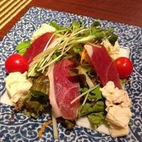 富士見庵 - 鴨生ハムと湯葉のサラダ(税込680円)