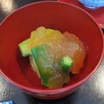 29132695 - 夏野菜の土佐酢ジュレがけ