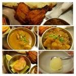 インド料理スラージ - 茄子とジャガイモのカレーが美味しいそうですよ。タンドリーチキンも近所のお店の倍程度の大きさがあります。