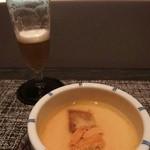 ゼックスウエスト 炙り焼き&寿司 アン - 蒸物「フォアグラと生雲丹の茶碗蒸し」