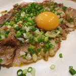 食道楽 - 炙り牛肉のカルパッチョ