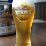 ユキアカリ - 生ビールは一番搾り