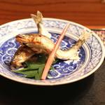め乃惣 - 小鮎の塩焼き (2014/07)