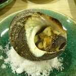 市力寿司 - サザエつぼ焼き