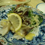 市力寿司 - トリ貝にお酢味噌
