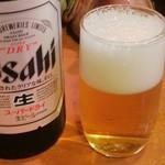 29140629 - ビール(アサヒスーパードライ)中瓶 600円