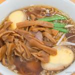 香湯ラーメン ちょろり - ラーメン・メンマ・味付玉子【2014年6月】
