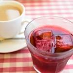 Cafe Restaurant アドリア - ミックスベリージュースとカフェオレ