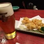 山海酒房 あかね屋 - トウモロコシのかき揚げとプレモルは最高の組み合わせでした(*´д`*)