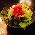 肉の万世 - セットのサラダ