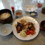 らんぷ亭 - 茄子とポーク炒め ランチ
